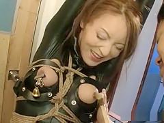Crazy Japanese slut in Hottest Latex, BDSM JAV clip