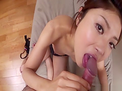 Best Japanese slut Mafuyu Hanasaki in Crazy JAV uncensored Blowjob video
