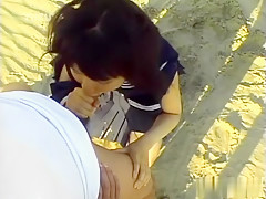 Incredible Japanese girl in Exotic JAV uncensored College Girl movie