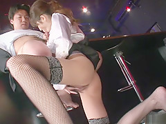 Horny Japanese model Rino Asuka in Best JAV uncensored Stockings scene