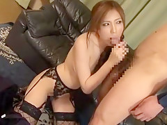 Amazing Japanese whore in Fabulous Stockings/Pansuto, Lingerie JAV video