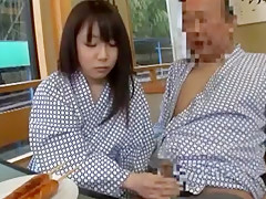 Exotic Japanese girl in Fabulous Blowjob, Public JAV clip