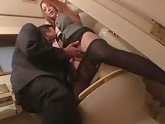 Horny Japanese girl Shiori Hazuki in Hottest Stockings, Cunnilingus JAV scene