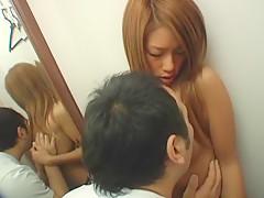 Fabulous Japanese model Kaede Motomiya, Erin Tohno, Yuyu Shirase in Crazy Changing Room JAV video