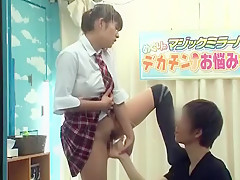 Exotic Japanese whore Megu Fujiura in Amazing Girlfriend, Voyeur JAV clip