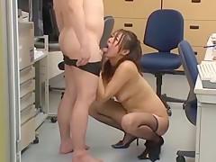 Incredible Japanese model Miwako Yamamoto in Amazing Stockings, Office JAV scene