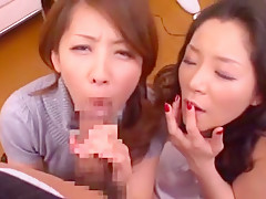 Horny Japanese whore Aya Asakura, Misa Yuuki in Fabulous Dildos/Toys, POV JAV clip