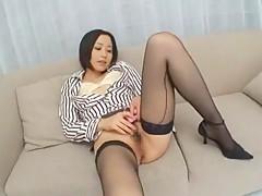 Amazing Japanese girl Jun Kiyomi in Exotic Masturbation, Secretary JAV movie