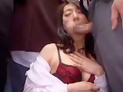 Hottest Japanese chick Miwako Yamamoto, Misa Yuuki, Marina Matsumoto in Fabulous Blowjob, Stockings JAV scene
