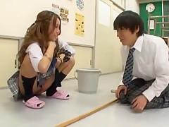 Horny Japanese model Rena Konishi, Chika Arimura in Fabulous Teens JAV video