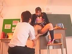 Exotic Japanese slut Misa Ando in Amazing Babysitters, Cheerleaders JAV clip