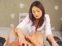 Horny Japanese model Risa Murakami in Best Handjobs, POV JAV clip