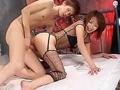 Best Japanese slut Hara Koyuki in Horny Stockings, Rimming JAV scene