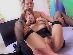Exotic Japanese girl Miyu Hoshino in Incredible Cunnilingus, Threesome JAV scene