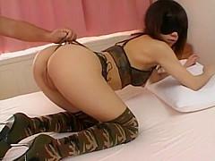 Horny Japanese whore Ai Nakatsuka in Amazing Lingerie, Stockings JAV movie